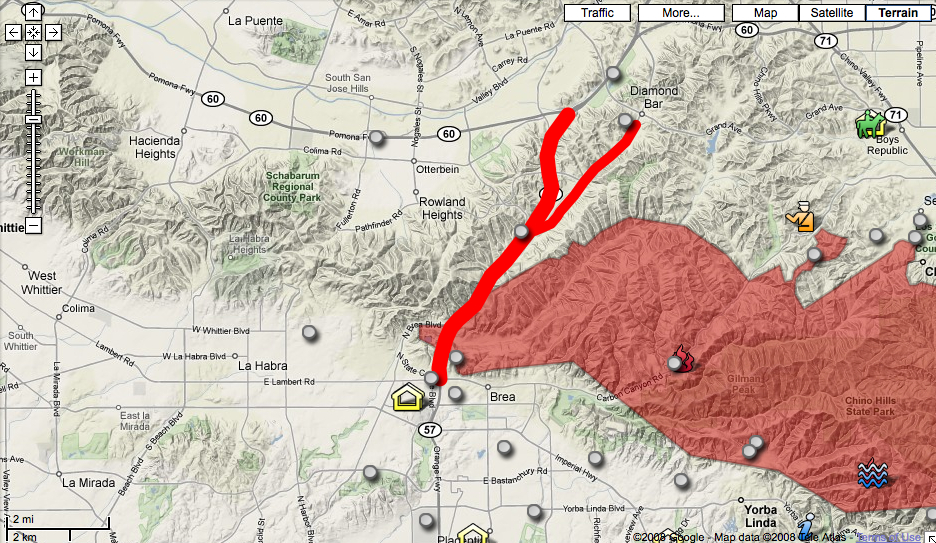 Bold red lines are road current road closures