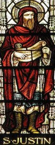 Justin Martyr Stained Glass